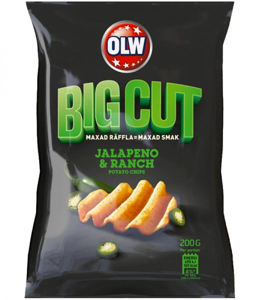 "Chips ""Big Cut Jalapeno Ranch"" 200g - 77% rabatt"