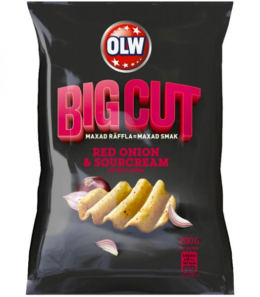 "Chips ""Big Cut Red Onion"" 200g - 77% rabatt"