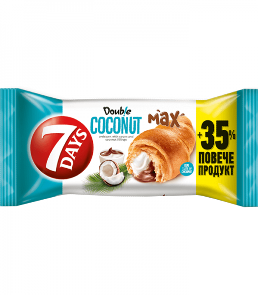 7 Days Double Coconut & Cocoa Soft Filled Croissant 110g