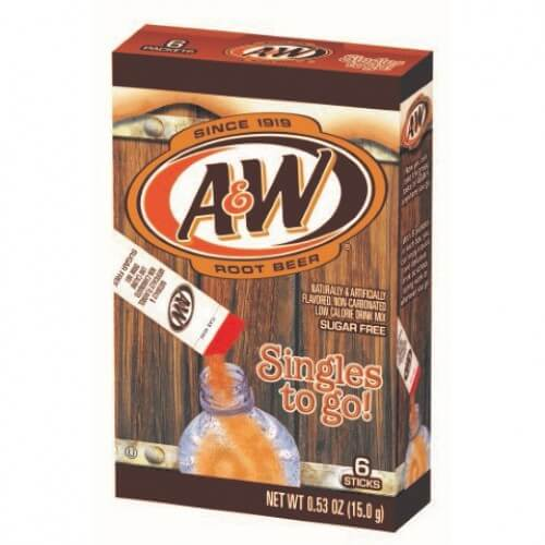A&W Root Beer Singles 2 Go