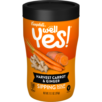 Campbells Harvest Carrot & Ginger Sipping Soup 318g