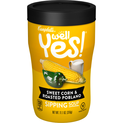 Campbells Sweet Corn & Roasted Poblano Sipping Soup 316g