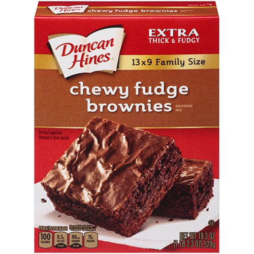 Duncan Hines Chewy Fudge Brownie Mix 520g