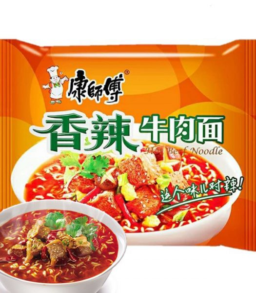 Kang Shi Fu Instant Noodles Spicy Beef Flavor 144g