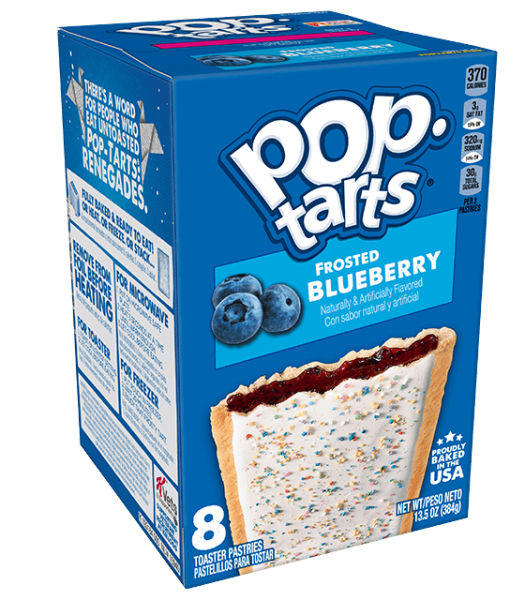 Kelloggs Pop-Tarts Frosted Blueberry