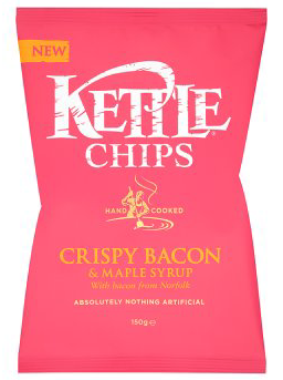 Kettle Foods Crispy Bacon & Maple Syrup 150G
