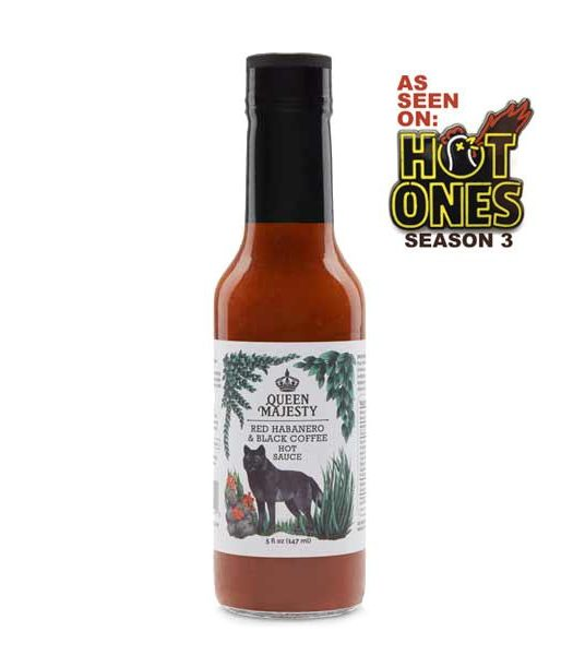 Queen Majesty Red Habanero & Black Coffee Hot Sauce 147ml