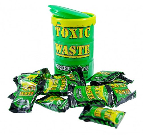 Toxic Waste Green Drum Extreme Sour Candy