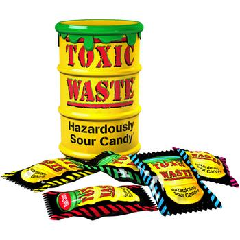 Toxic Waste Yellow Sour Candy Drum