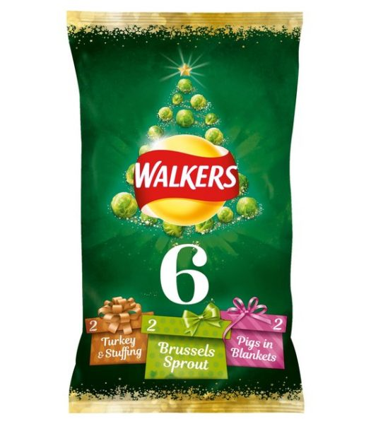 Walkers Festive Variety Crisps with Sprouts 6x25g