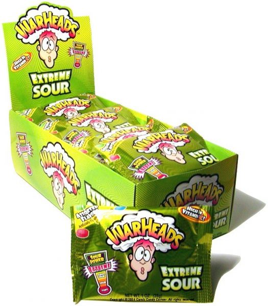 Warheads Extreme Sour Hard Candy 28g x 12st