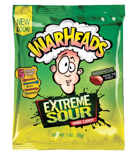 Warheads Extreme Sour Hard Candy 28gram
