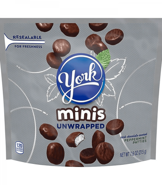 York Peppermint Patties Unwrapped Minis 215g